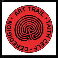 look out for this art trail sign