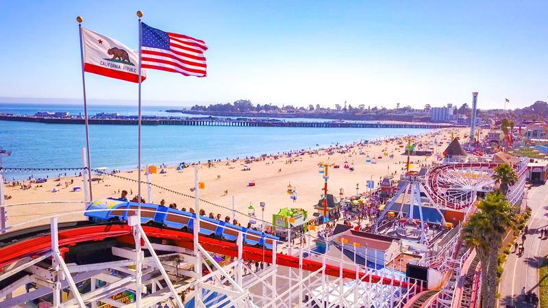 The Boardwalk's Giant Dipper Roller Coaster