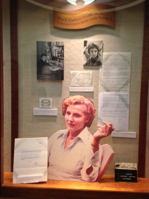 Cabinet at James Tiptree, Jr. exhibition