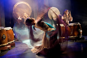 Lale Sayoko's double veil dance