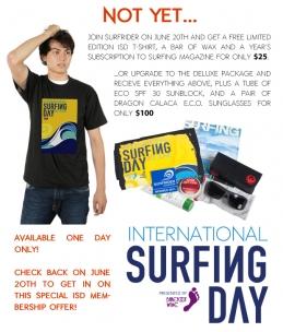 INTERNATIONAL SURFING DAY SURFRIDER FOUNDATION MEMBERSHIP OFFER