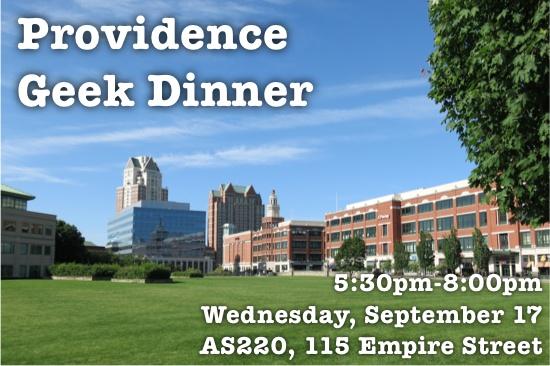 Providence Geek Dinner @ AS220 | Providence | Rhode Island | United States