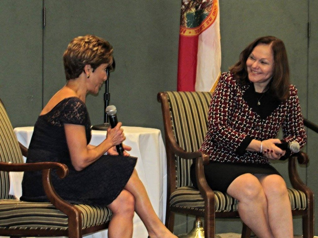 Giselle Carson and Hilarie Bass at Annual JBA Law Day Luncheon