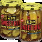 mt olive sweet heat bread & butter chips & spears