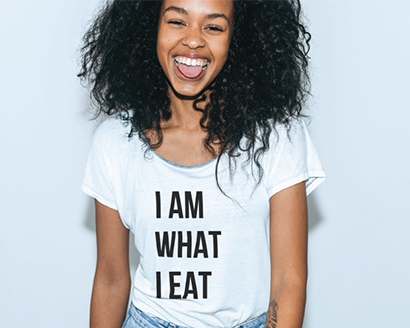 i am what i eat tshirt for food trends