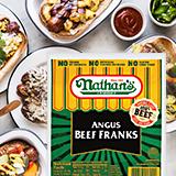 nathan's angus beef franks hot dog bar