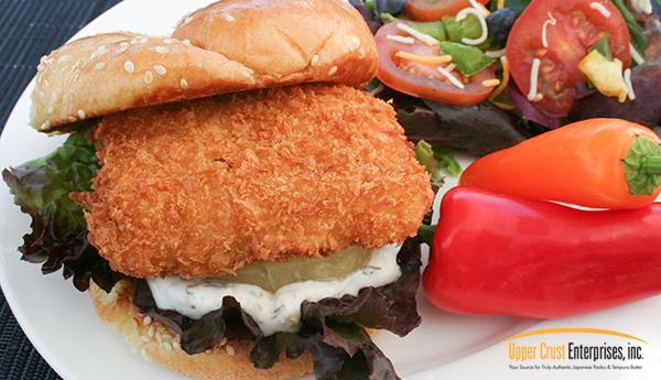 upper crust panko fish sandwich
