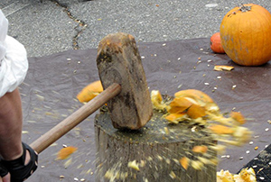 Testing the effectiveness of the wooden hammer