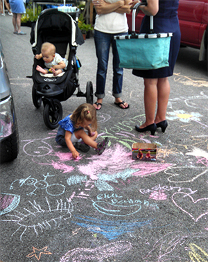 Sidewalk Chalk Day in Exeter
