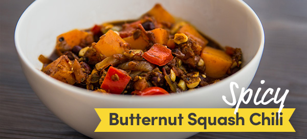 spicy butternut squash chili