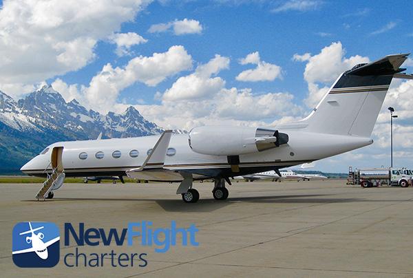 Photo - Gulfstream charter on ramp at Jackson Hole Airport