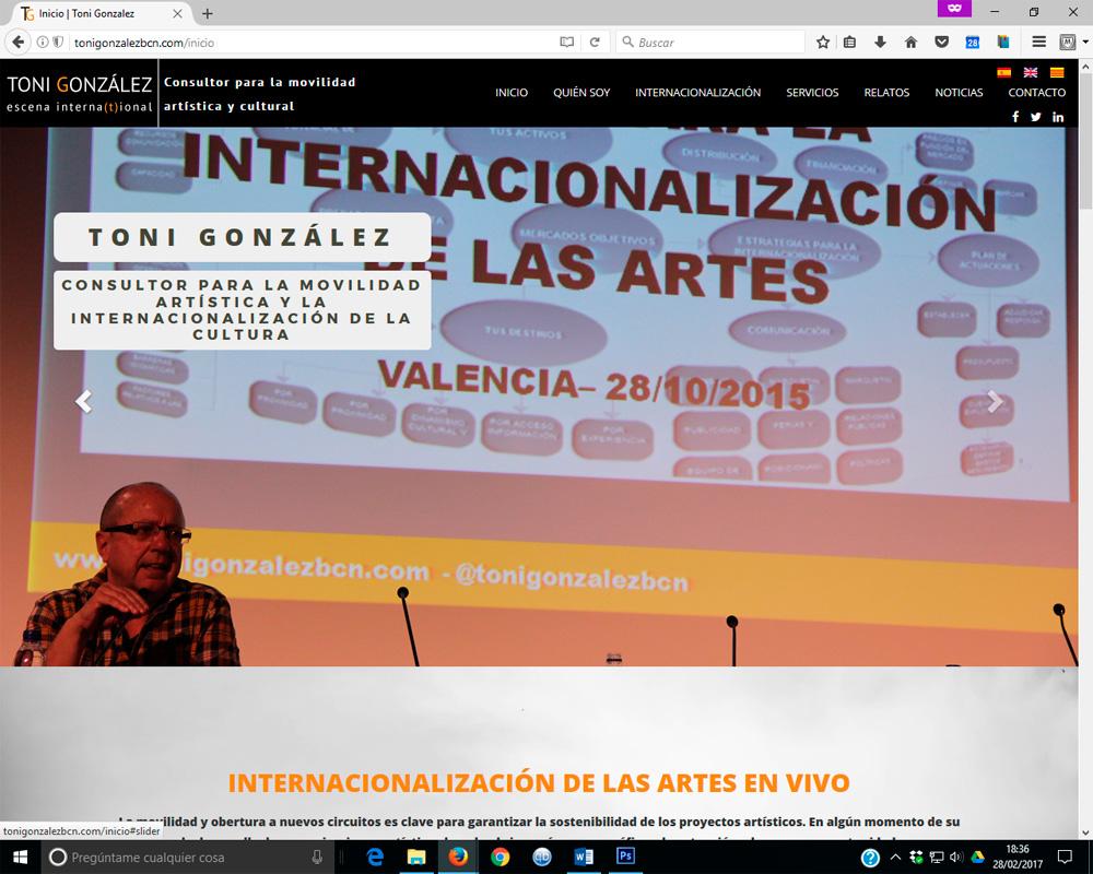 Foto: Nova web tonigonzalezbcn.com
