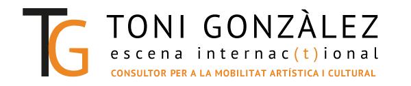 """Imatge: logo """"Toni Gonzàlez"""", consultor per a la mobilitat artística i cultural"""