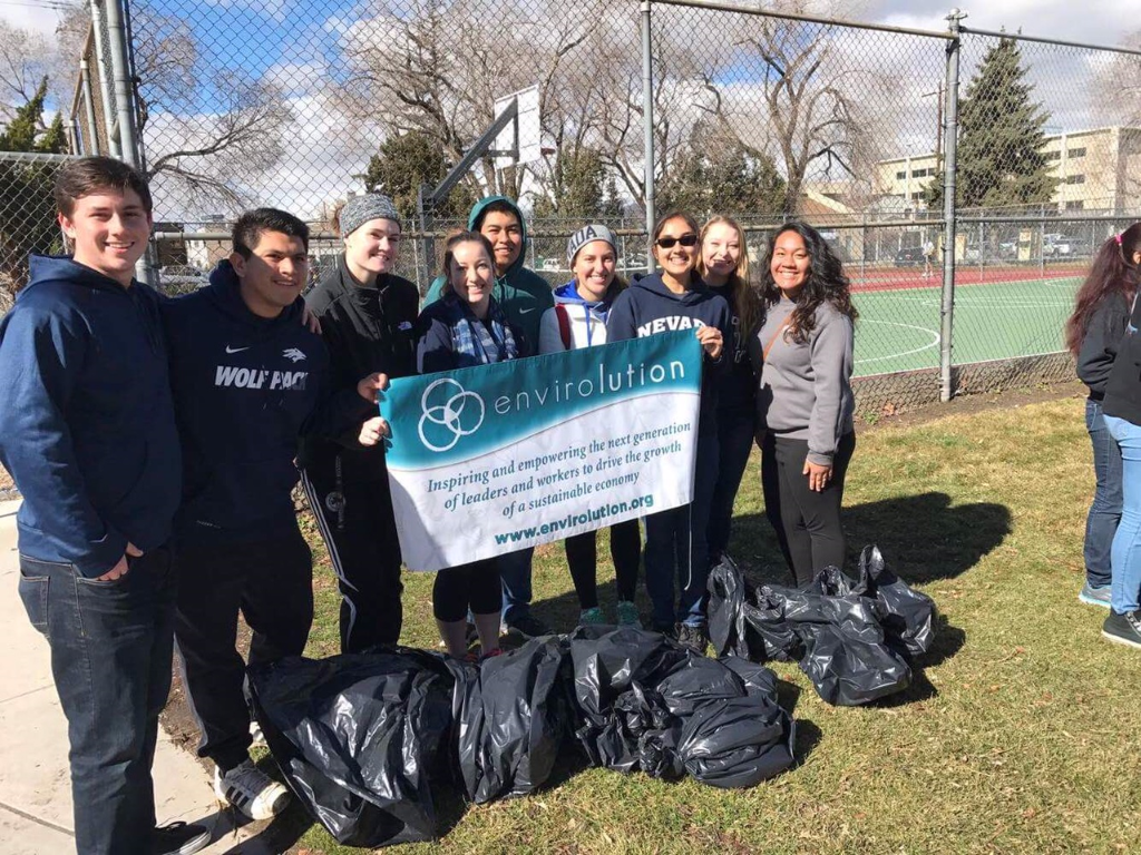 UNR students cleanup Pickett Park on February 11