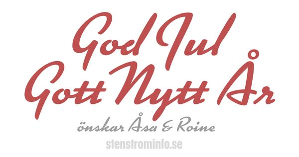 God Jul & Gott Nytt År önskar Åsa och Roine