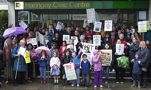 Pinkham Way protest
