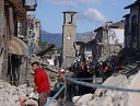 Amatrice in ruins
