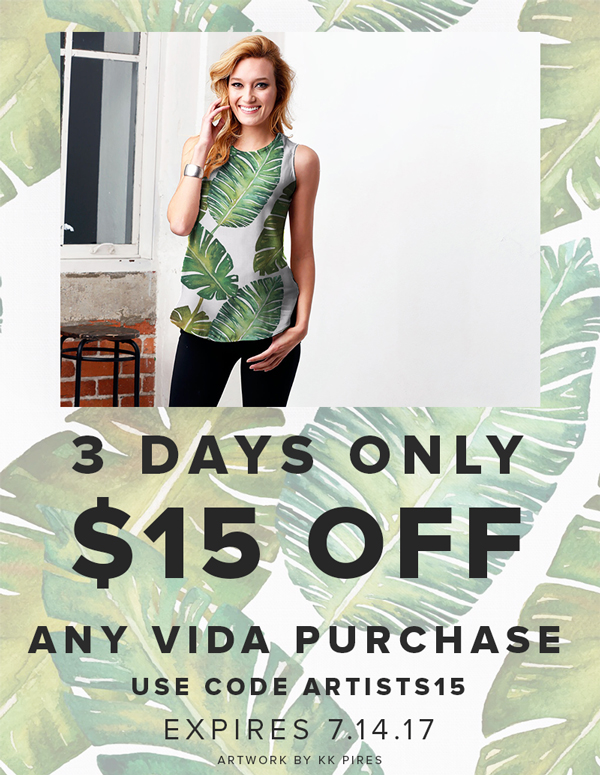$15 Off Any VIDA Purchase