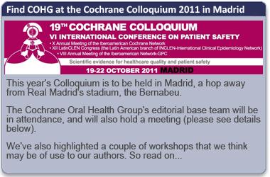 Cochrane Colloquium 2011 - Madrid