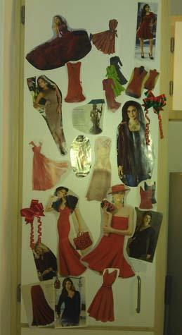 Cheryl's Sexy Red Dress Vision Board