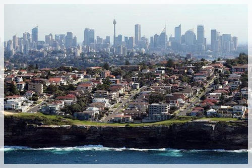 Dover Heights and neighboring areas of central Sydney