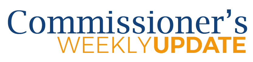 Commissioner's Weekly Update banner