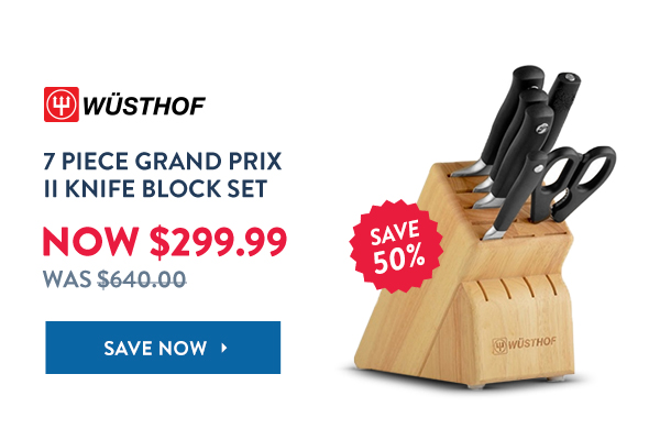 Save 50% Off Wusthof 7 Piece Grand Prix II Knife Block Set