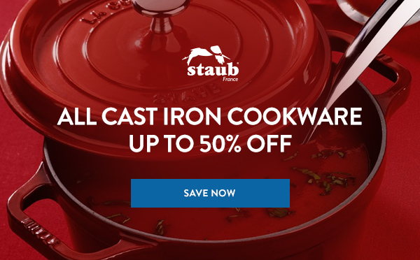 Up To 50% Off All Staub Cast Iron Cookware