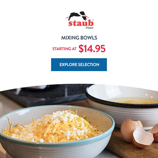 Explore Staub Mixing Bowls Starting At $14.95