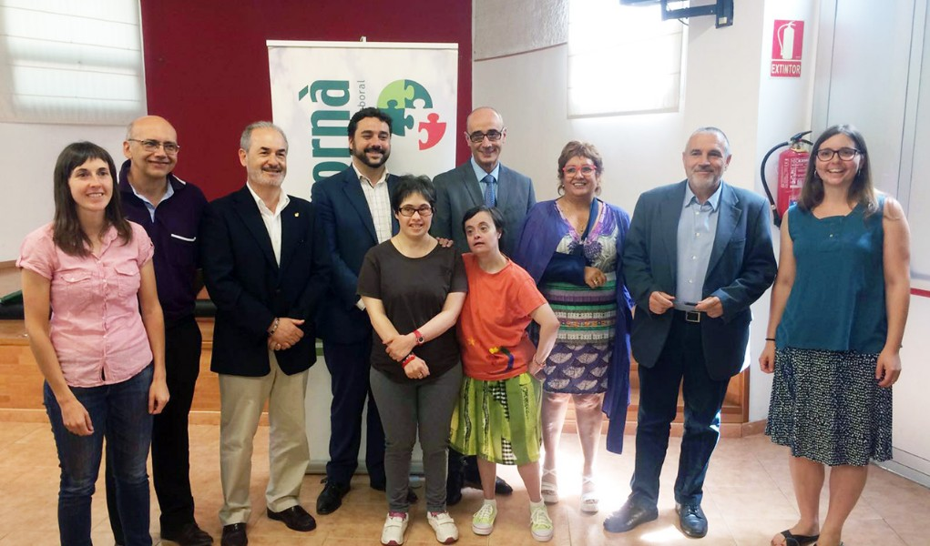 Visita de la consellera a Mas Albornà