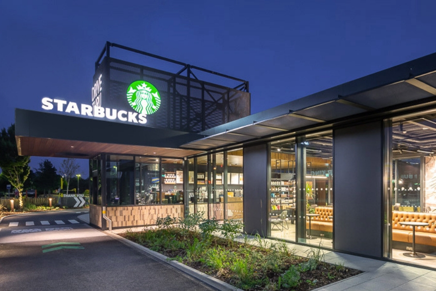 Starbucks builds with WasteBasedBricks
