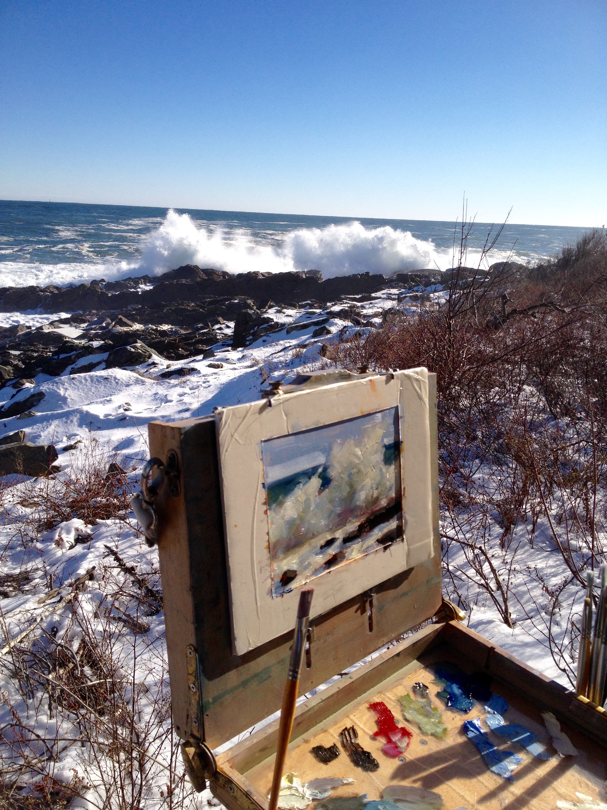 Crashing surf- painting a nor'easter