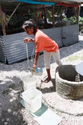 A clean well in Kiribati