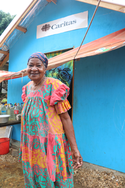 rebuilding homes in Vanuatu