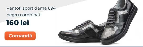Pantofi sport dama 694 Culoare: negru combinat. Pret: 160 lei. Comanda acum