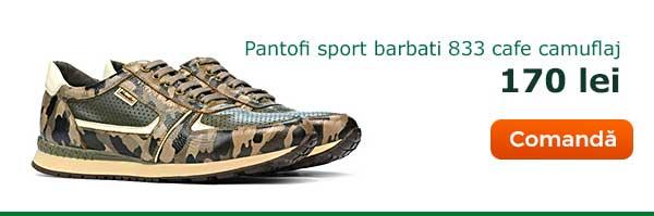 Pantofi sport barbati 833 cafe camuflaj. Pret: 170 lei. Comanda acum