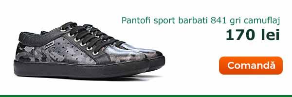 Pantofi casual/sport barbati 841 gri camuflaj. Pret: 170 lei. Comanda acum