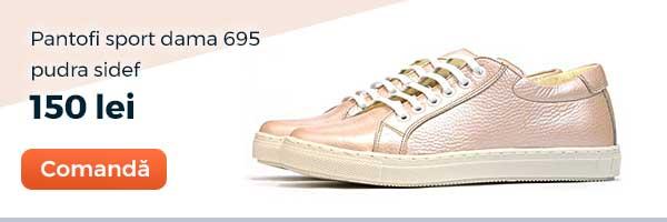 Pantofi sport dama 695. Culoare: pudra sidef. Pret: 150 lei. Comanda acum