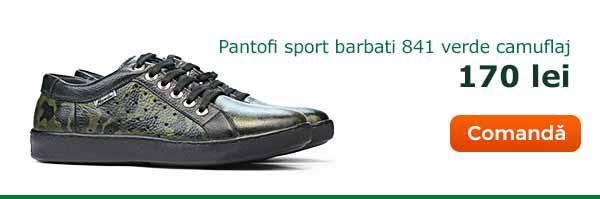 Pantofi casual/sport barbati 841 verde camuflaj. Pret: 170 lei. Comanda acum
