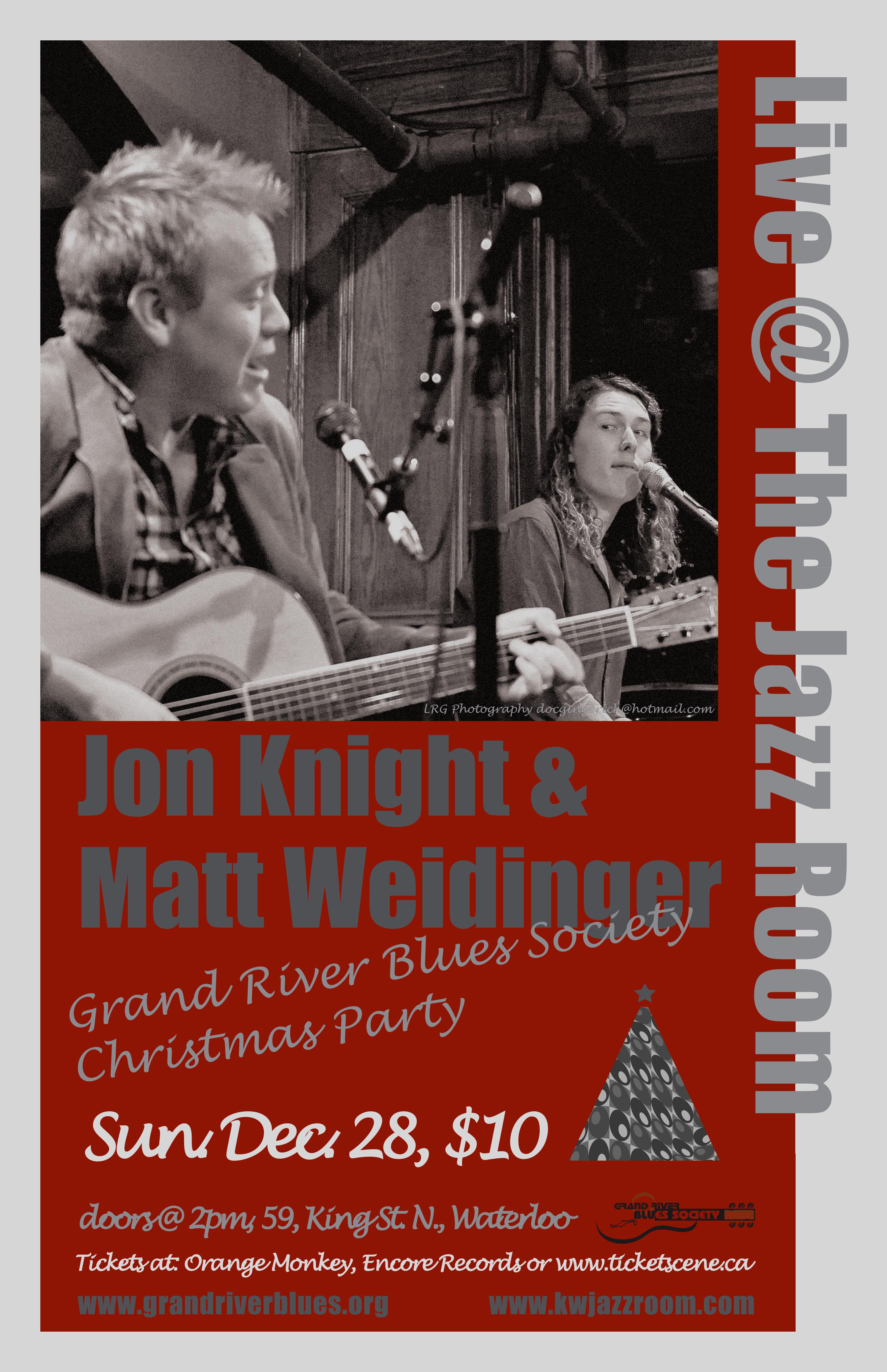 Grand River Blues Society Christmas Party with Matt Weidinger & Jon Knight