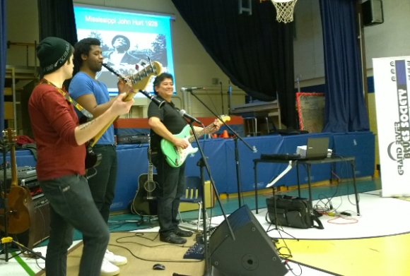John McKinley and sidemen present the GRBS Blues in the Schools program