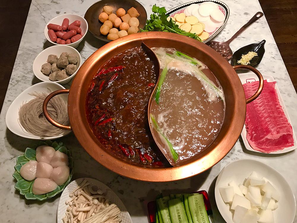 Sichuan mala hot pot from scratch