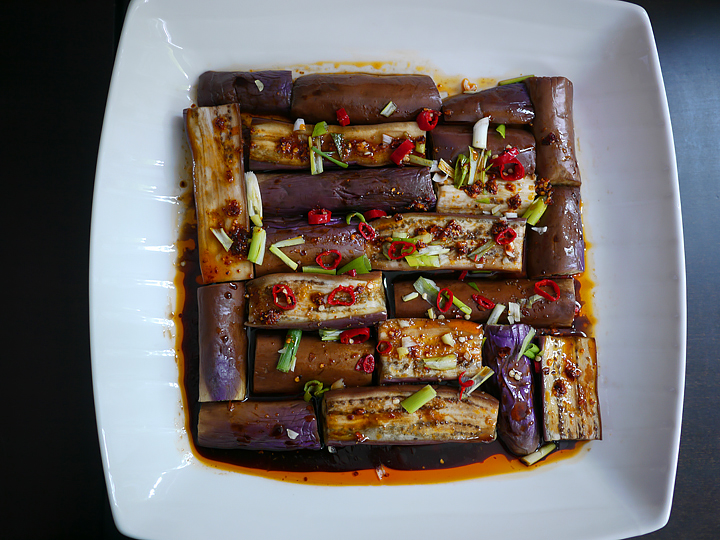 Hot and sour eggplant (suan la qie zi)