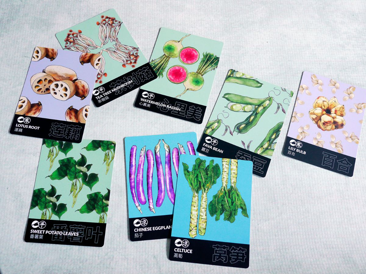 Vegetables of China card deck