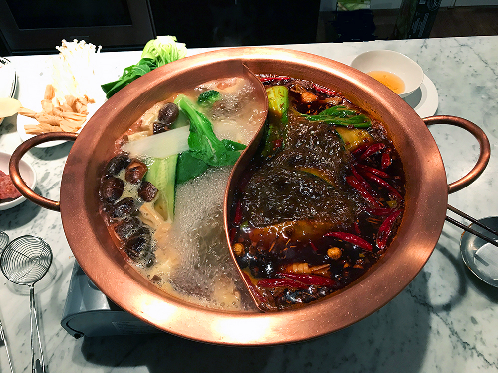 Copper Hot Pot for Sichuan Mala Hot Pot