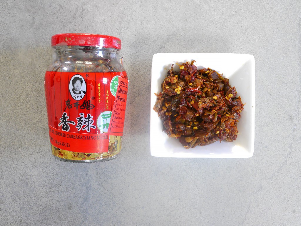 Lao Gan Ma Xiang La Cai, spicy pickled vegetable