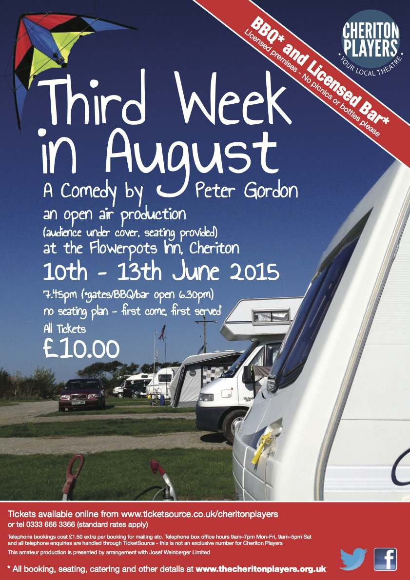 Third Week in August poster - Cheriton Players