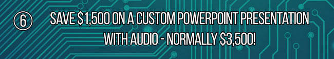 Save $1000 On Custom PowerPoint Presentations With Audio - Normally $3,500