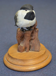 Chicadee carving
