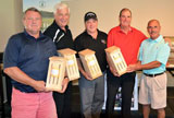 The winning team at the 12th South Huron Trail Fundraiser Golf Tournament, held at Ironwood Golf Club east of Exeter, on August 28, 2017 was (from left to right in photo) Steve Thomas; Jim DeBlock; Craig Hebert; and Bob Illman.